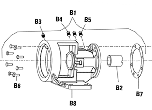 Bracket Assembly Kit (B1) for Viking PN. 3-075-287-080-00 , Viking Pump H124 & H4124