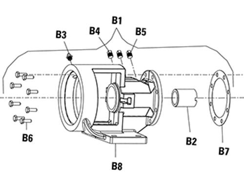 Pipe Plug (B4 and B5) for Viking PN. 2-542-001-376-00 , Viking Pump H124  & H4124