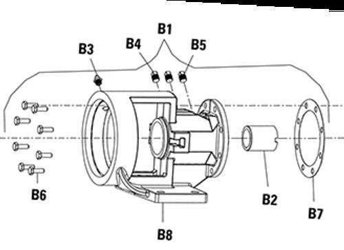 Bracket (B8) for Viking Pump H124 & H4124