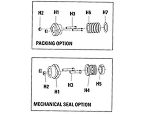 Packing Gland (H1) for Viking PN. 2524-042-150-00 for Viking Pump Model K & KK
