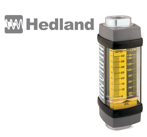 "1/4"", 0.10-2.00 US GPM Flow Range Hedland Flow Meter-Build Your Own Flow Meter"