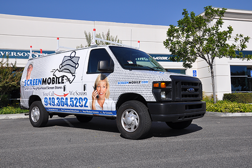 Ford Van Vehicle Wrap Screen Mobile By Getmorewraps.com