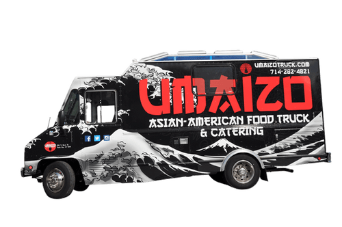 Food truck 3M flat wrap for UMAIZO Asian American food truck and catering