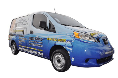 2013 Nissan NV 200 GF gloss wrap for JC's Water Filtration Systems