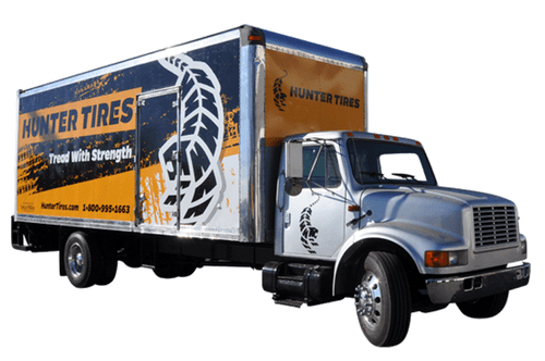 24' Box Truck Wrap using GF for Hunter Tires