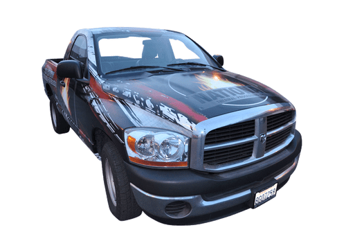 Dodge ram pickup truck wrap for national thermal processing