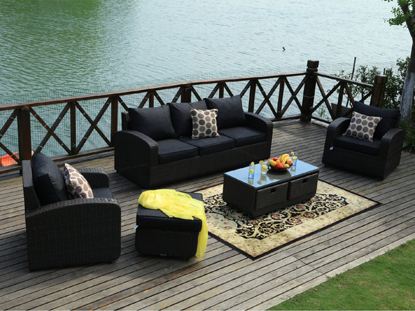 Direct Wicker Tiana 5pc Patio Garden Furniture Sofa Set Sectional