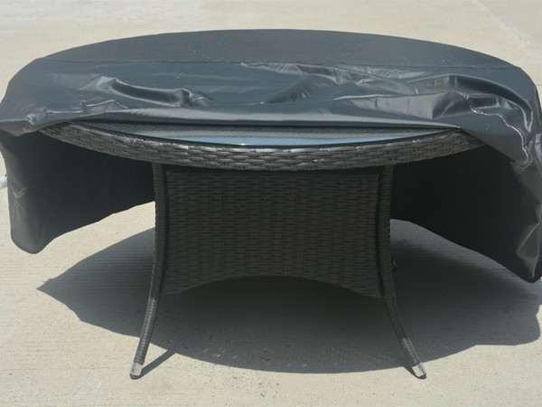Direct Wicker Round Patio Dining and Sofa Set Cover,D 94.49'' x H 22.83''