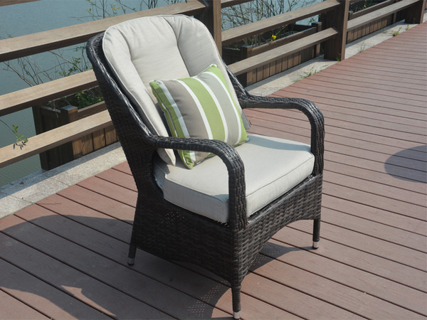 Direct Wicker Liberatore Lounge Chair with Cushions(8 pcs)