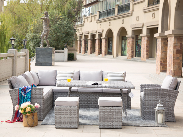 Direct Wicker Keiran 6 Piece Rattan Conversation Set with Cushions