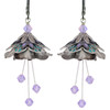 Flower Fairy Earrings - Water Nymph Silver, Teal and Lavender