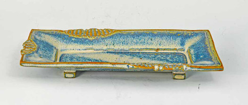 Handmade Pottery Butter Dish - french blue