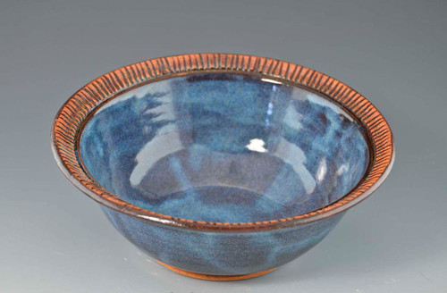 "Handmade Pottery Small 7"" Bowls - blue"