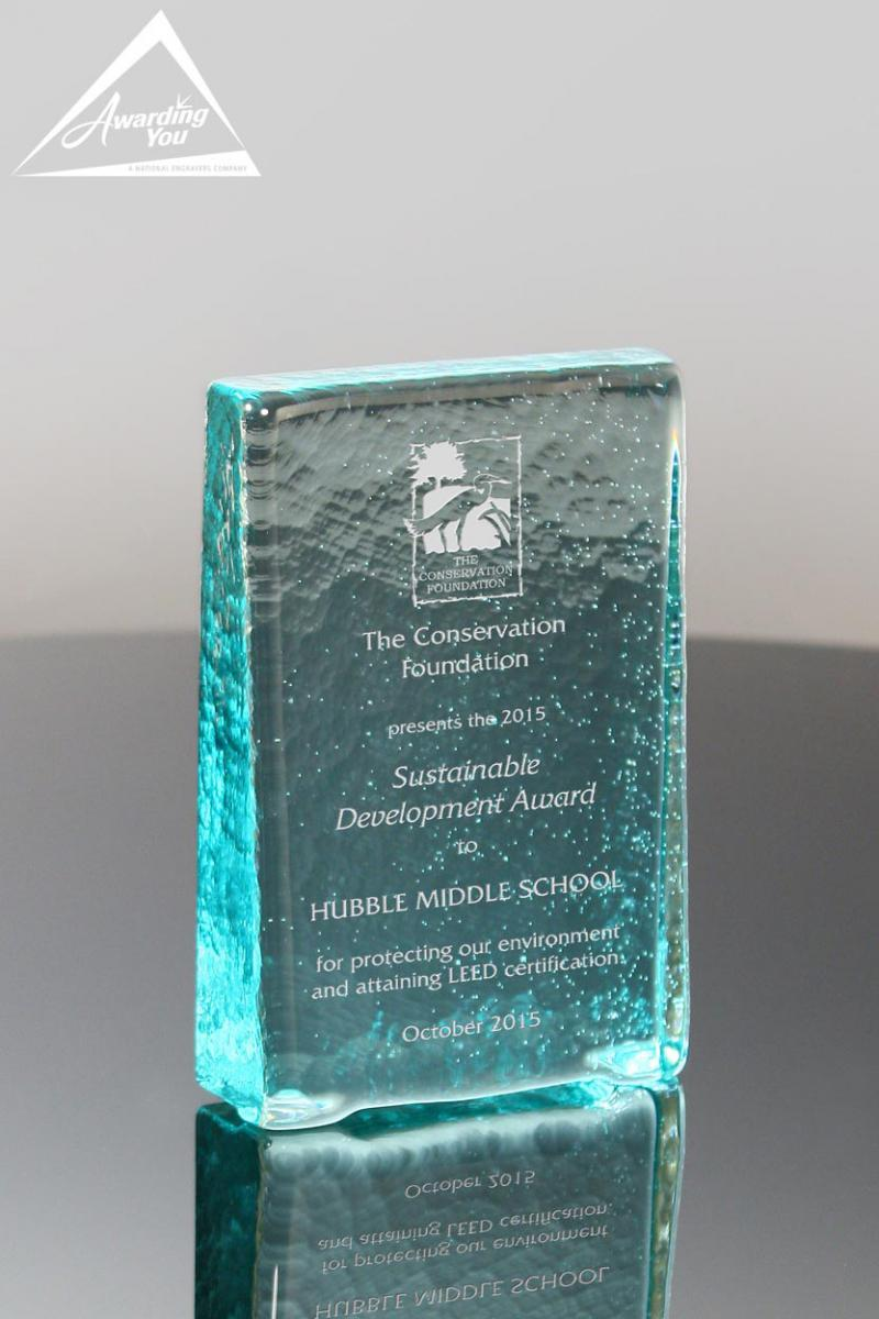 Recycled Glass Awards are perfect for recognizing sustainability managers