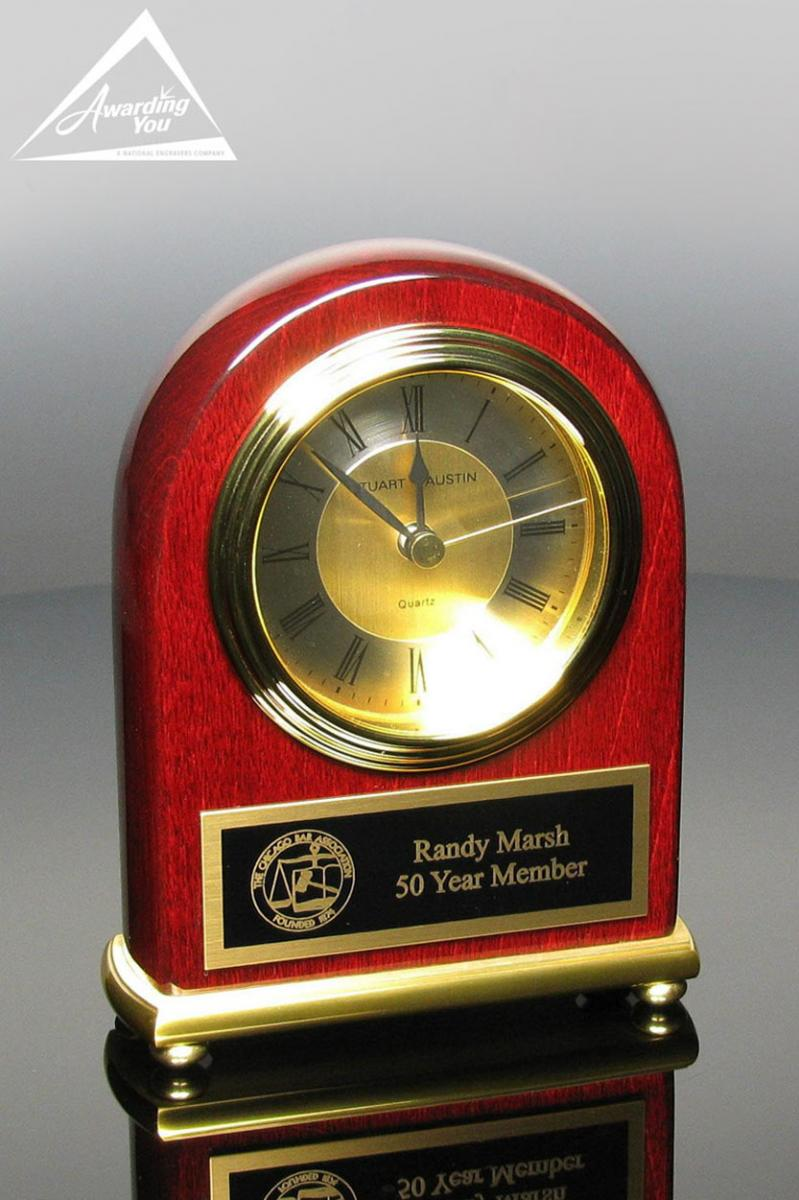 personalized clocks are very popular for retirement gifts
