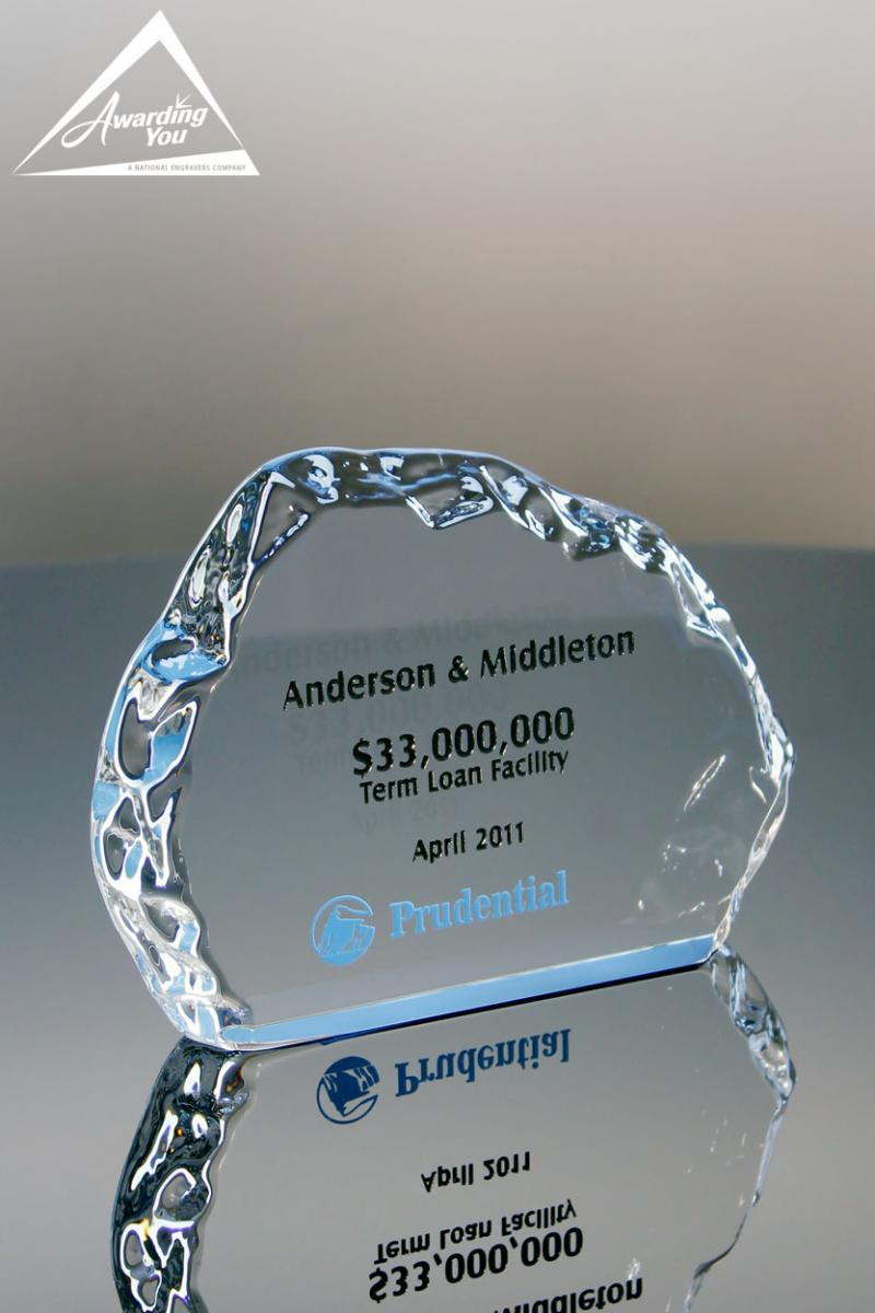 The Norite Crystal Iceberg Award is a great way to commemorate a deal
