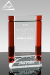 Red Curtain Crystal Award Front View