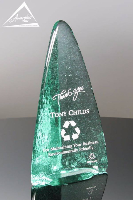 Zephyr Recycled Glass Award Front View