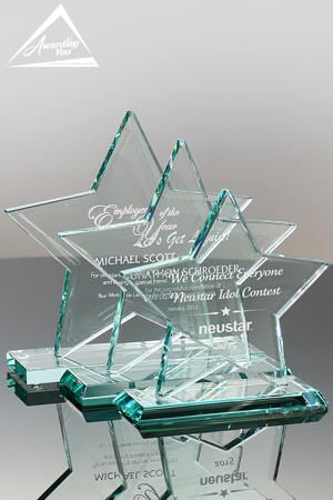 Star shaped awards are great for certification recognition