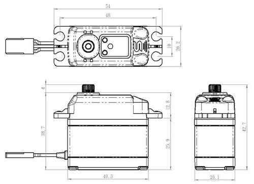 Savox SB-2273SG High Voltage Brushless Digital Servo. Aluminum Case, Steel Gears