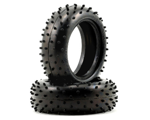 """Schumacher Racing """"Mini Spike 2"""" 1/10 4WD Buggy Front Tires (2) (Yellow)"""