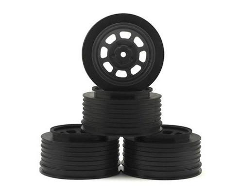 DE Racing Speedway SC Dirt Oval Wheels (Black) (2) (+3mm Offset/29mm Backspace) (SC10/SC5M) w/12mm Hex