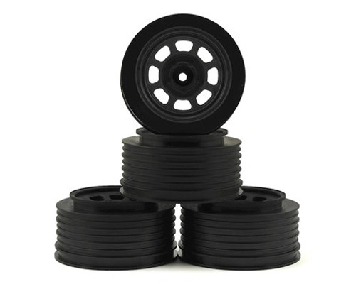DE Racing Speedway SC Short Course Dirt Oval Wheels (Black) (2) (19mm Backspace) (Slash Front) w/12mm Hex