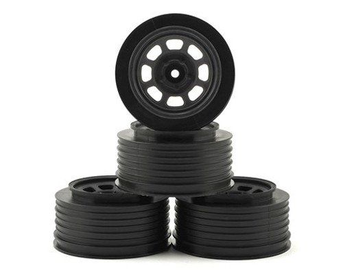 DE Racing Speedway Short Course Wheels (Black) (2) (21.5mm Backspace) (Slash Rear) w/12mm Hex