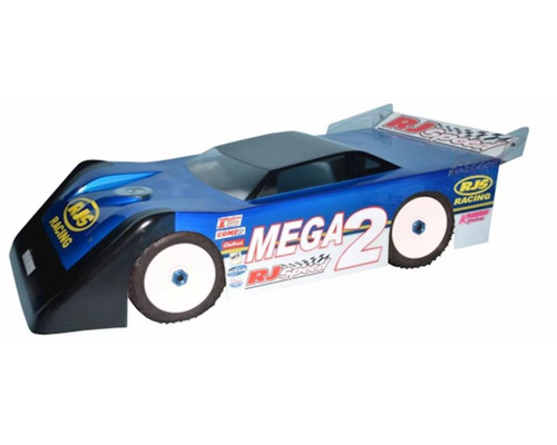 RJ Speed 1058 1/8 Mega Wedge 2 Dirt Oval Clear Body