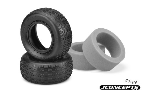 JConcepts 3187-010 Swaggers Carpet Short Course Front Tires (2) (Pink)
