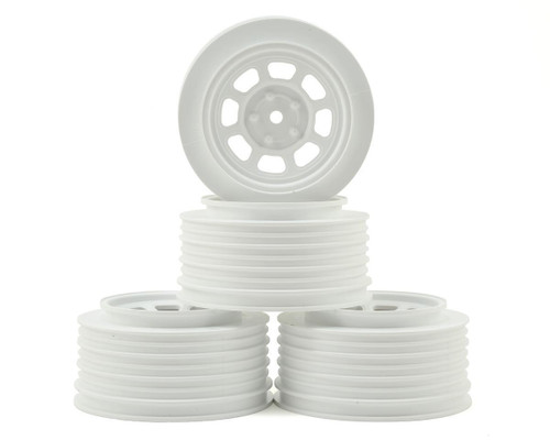 DE Racing Speedway SC Short Course truck Wheels Associated SC10/B5M (White) (4) +3mm Offset/29mm Backspace w/12mm Hex