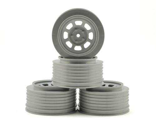 DE Racing Speedway SC Short Course Truck Wheels Associated SC10/B5M (Silver) (4) +3mm Offset/29mm Backspace w/12mm Hex