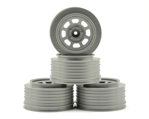 DE Racing Speedway SC Short Course Dirt Oval Wheels (Silver) (4) (19mm Backspace) Slash Front w/12mm Hex