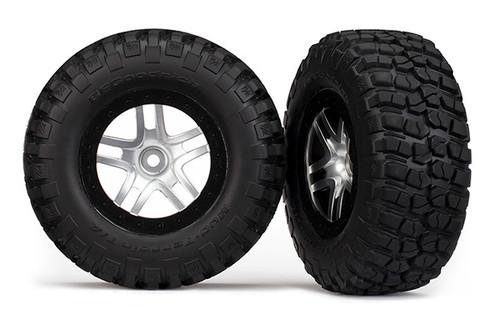 Traxxas BFGoodrich Mud TA Front Tire (2) (Satin Chrome) (Standard) w/ Split Spoke Front Wheel