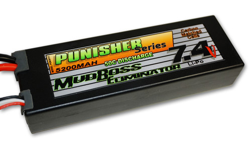 "Punisher Series ""MudBoss Eliminator"" 5200mah 50C 2cell Lipo (Traxxas Plug) 7.4V"