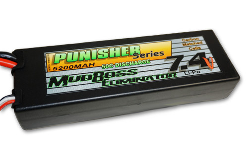 "Punisher Series ""MudBoss Eliminator"" 5200mah 50C 2cell Lipo (Deans Plug) 7.4V"