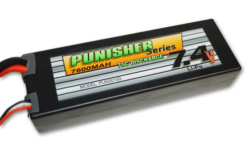 Punisher Series 7600mah 75C 2cell Lipo (Deans Plug) 7.4V Battery