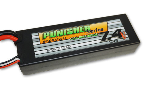 Punisher Series 6500mah 100C 2cell Lipo (Deans Plug) 7.4V