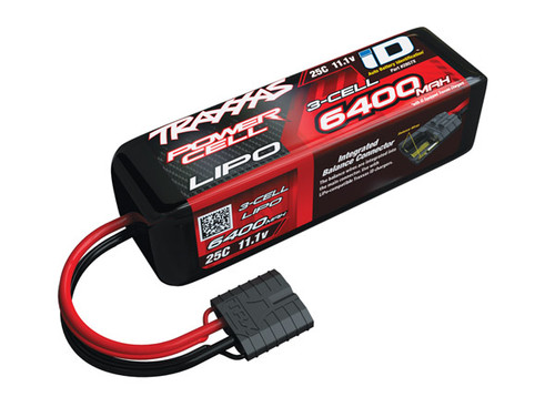 "Traxxas 3S ""Power Cell"" 25C LiPo Battery w/iD Traxxas Connector 11.1V/6400"