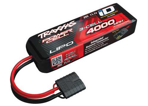 "Traxxas 3S ""Power Cell"" 25C LiPo Battery w/iD Traxxas Connector 11.1V/4000"