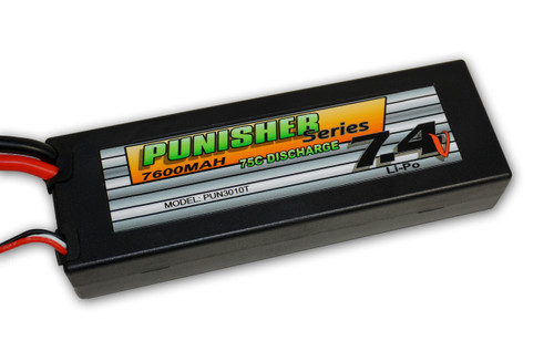 Punisher Series 7600mah 75C 2 Cell Lipo (Traxxas Plug) 7.4V