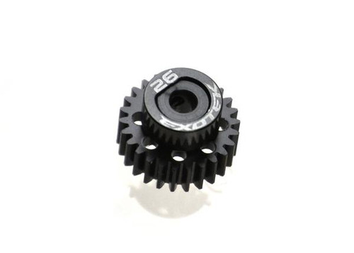 Exotek Racing Flite 48P Pinion, Black Pom w/ Alloy Collar