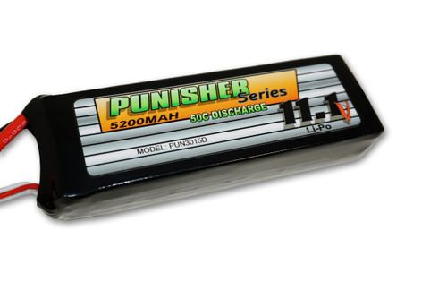 """Punisher Series"" 5200/50C 3cell Soft Case Lipo (Deans)"