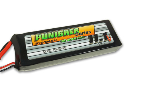 """Punisher Series"" 5200/50C 3cell Soft Case Lipo (XT90)"