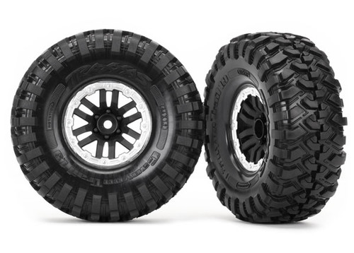 Traxxas 8272X TRX-4 Pre-mounted Canyon Trail 1.9 Crawler Tires w/TRX-4 Satin Wheels (2)