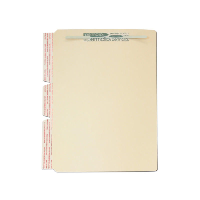 Medical Arts Press Match File Folder Dividers With Side Flap And Permclip  Fasteners On Top Of