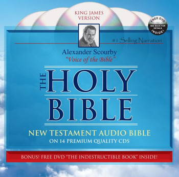 KJV New Testament Scourby (New Pkg) w/free Indestructible Book