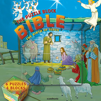 The Puzzle Block Bible: The Birth of Jesus