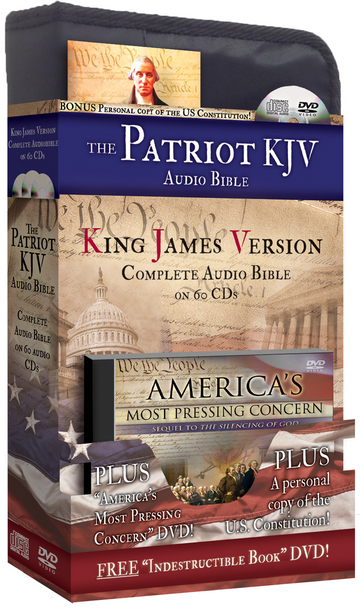 Patriot KJV Complete Audio Bible - Eric Martin - with 2 FREE DVDs, 1 MP3, and 1 Booklet