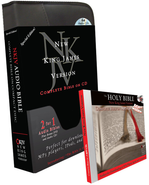"NKJV Complete Bible ""Special Edition"" (MP3/CD) with Indestructible Book DVD and Bible in One Hour"